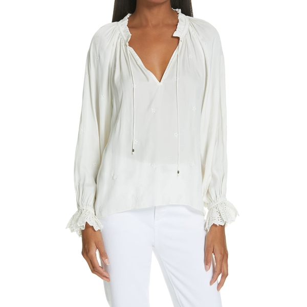 Auto Draft Luxe Essentials Ulla Johnson Irene Embroidered Blouse 3