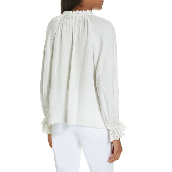 Auto Draft Luxe Essentials Ulla Johnson Irene Embroidered Blouse 4